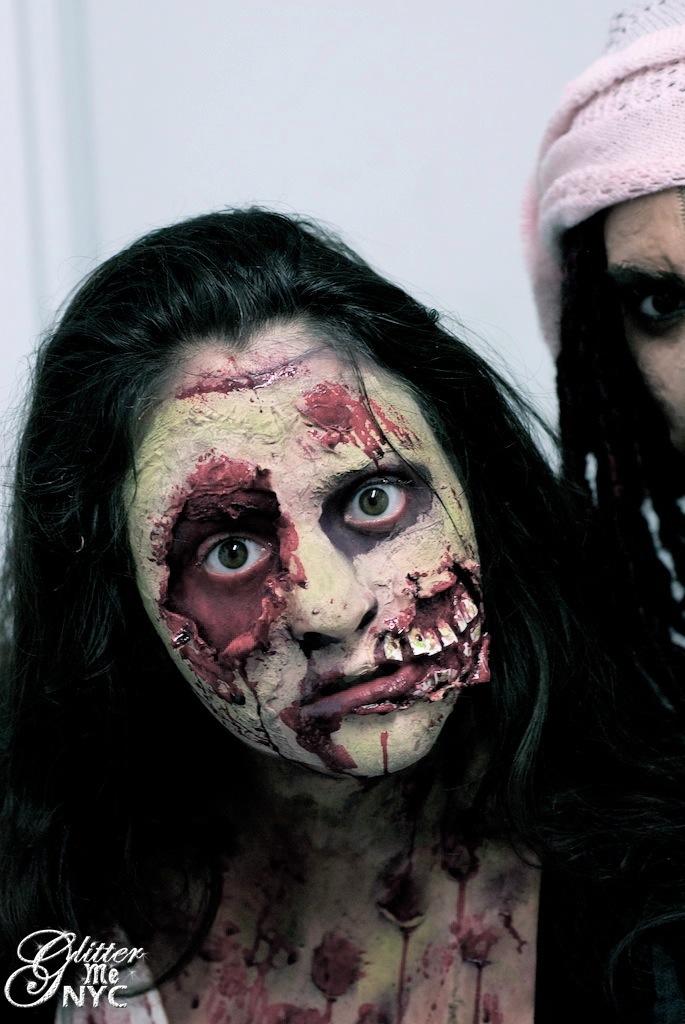 zombie make up www glittermenyc com glitter me nyc facepaint body paint make up design