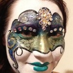 Venetian mask face paint www.glittermenyc.com