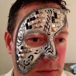 Venetian style mask face paint www.glittermenyc.com