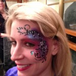 adult glamour face painting www.glittermenyc.com