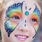 butterfly face paint www.glittermenyc.com 1