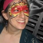 mask face paint www.glittermenyc.com 2