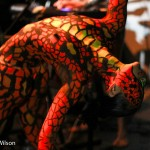 snake full body painting nyc  www.glittermenyc.com 6