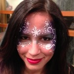 snowflake face painting www.glittermenyc.com