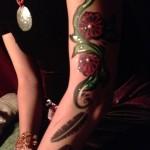 www.glittermenyc.com body paint roses