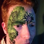 www.glittermenyc.com face paint dragon and scales